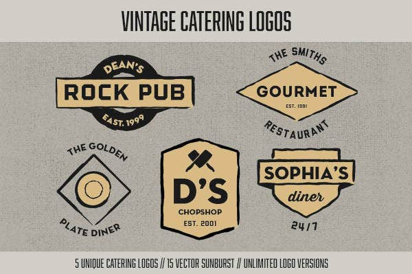 vintage-catering-logo-design