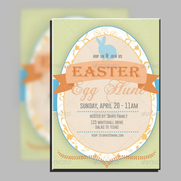 Vintage Easter Egg Invitation Template
