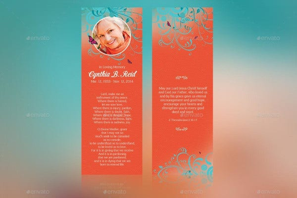 vintage-funeral-bookmark-template