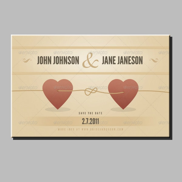 vintage wedding announcement card format
