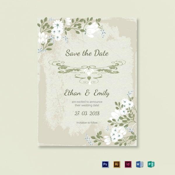 vintage wedding save the date design
