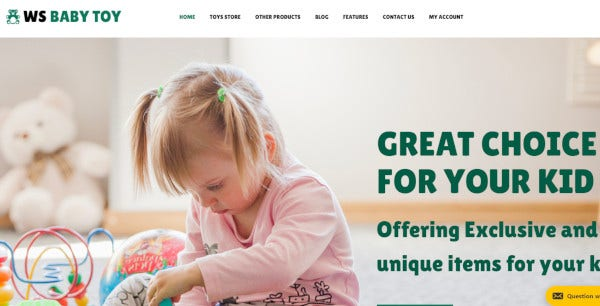 ws toy customizable wordpress theme