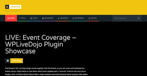 Wagazine - 650 Google Fonts WordPress Theme