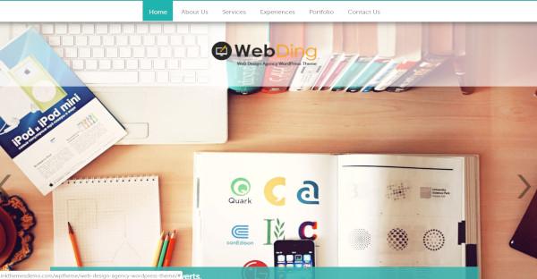 web ding – cross browser friendly wordpress theme