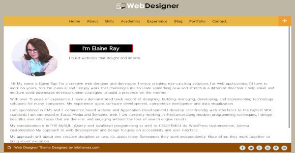 Webdesigner - Bootstrap Framework WordPress Theme