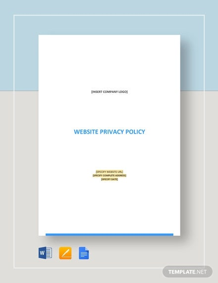 website privacy policy template
