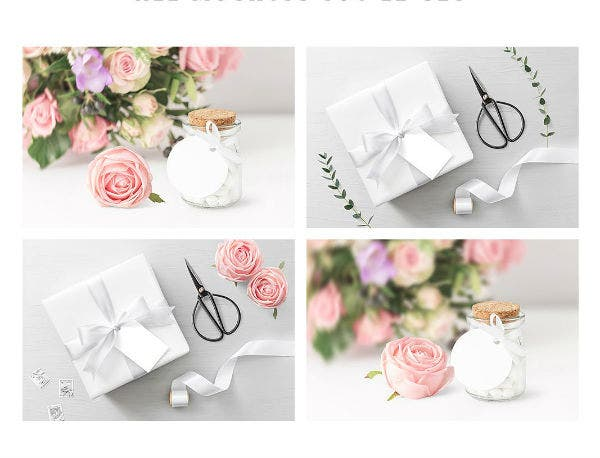 wedding favor and gift tag template