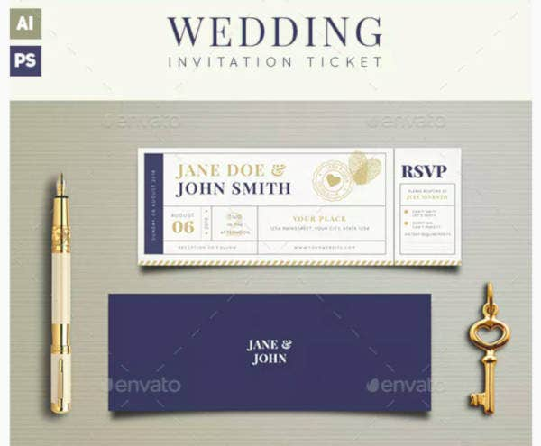 wedding invitation ticket example