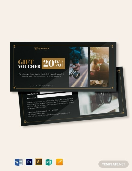 wedding photography voucher template