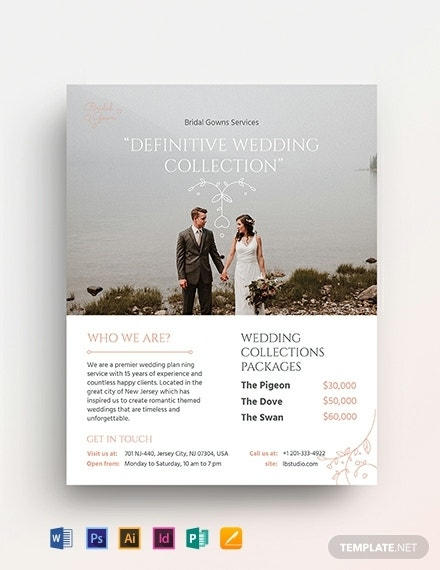 wedding planner service flyer format