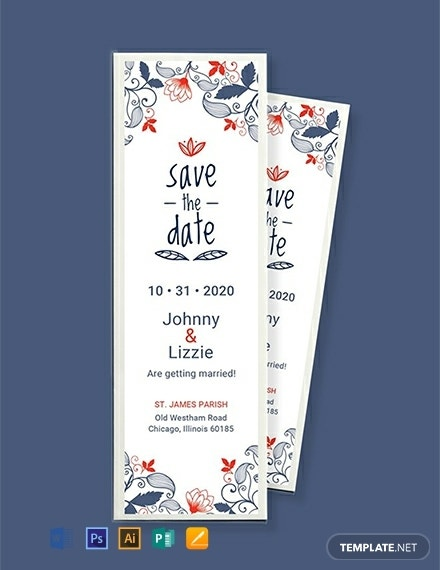 wedding save the date bookmark example