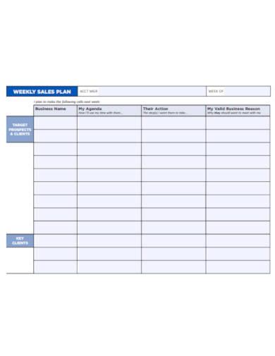 weekly sales plan template1
