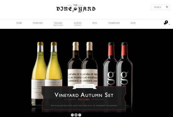 winestore responsive wordpress theme