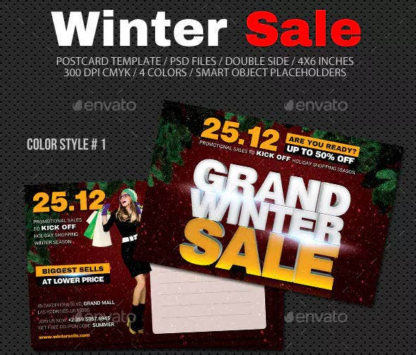 Winter Sale Postcard Sample