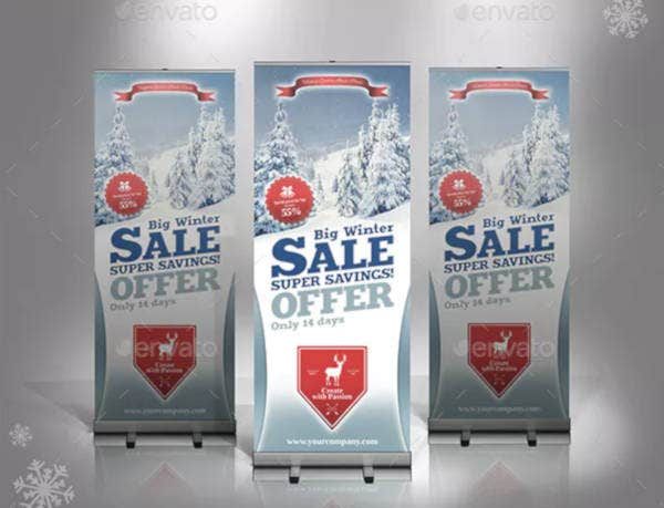 winter sale rollup banner