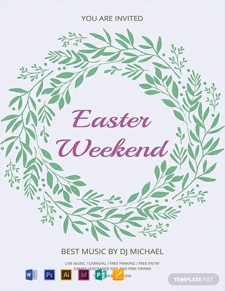 wreath easter weekend flyer sample