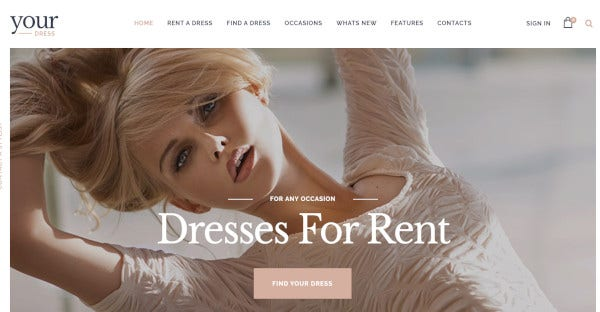 Your Dress - HTML5 and CSS3 WordPress Theme