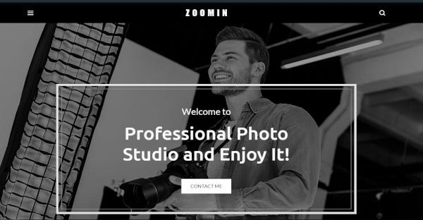 Zoomin – Mobile-Friendly WordPress Theme