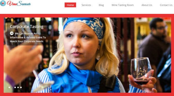 Redwine – Blog Section Featured WordPress Theme
