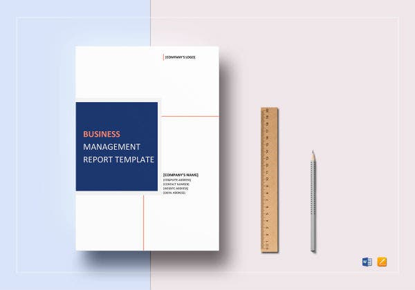 business management report template mockup