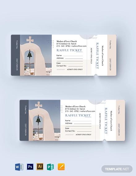 church raffle ticket
