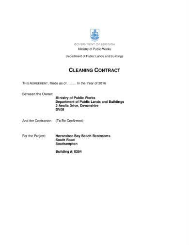 cleaning contract sample 1