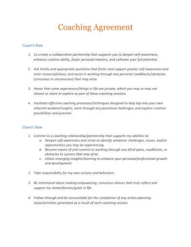 coaching agreement 1