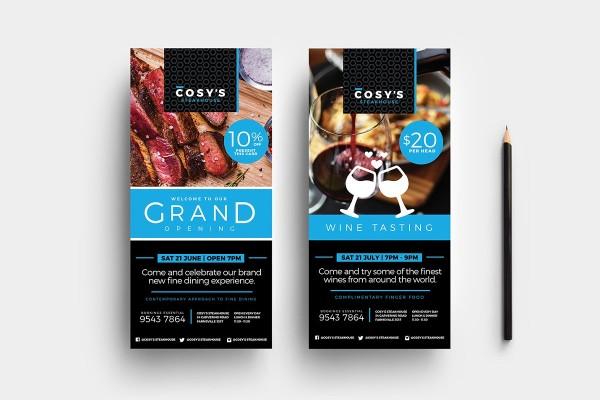 dl restaurant rack card template