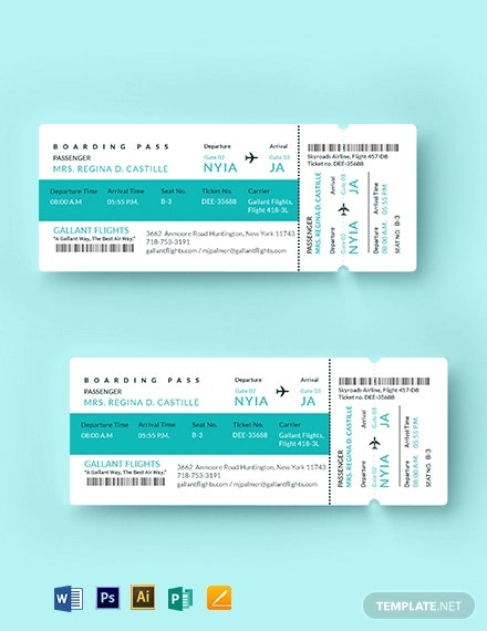 elegant airline ticket1