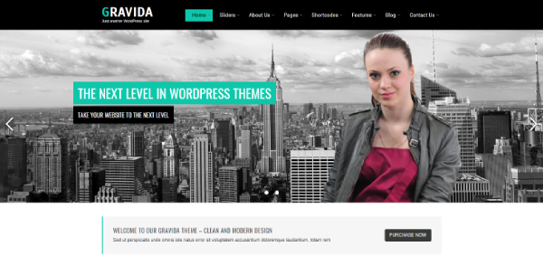 Gravida – Events Calendar WordPress Theme