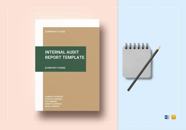 internal audit report template mockup