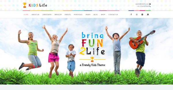 Kids Life – Recent Blog Section WordPress Theme