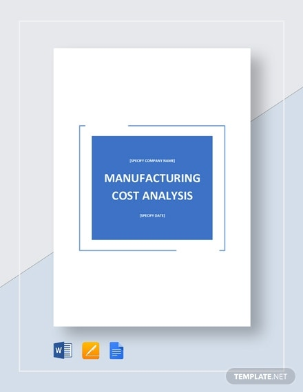 manufacturing cost analysis