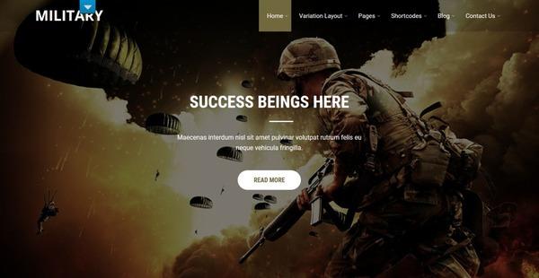 Military – Google Fonts WordPress Theme