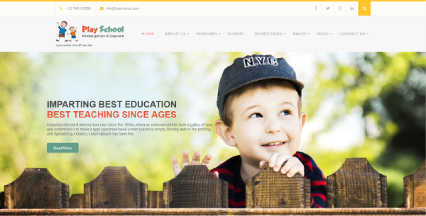Play School – Animated WordPress Theme