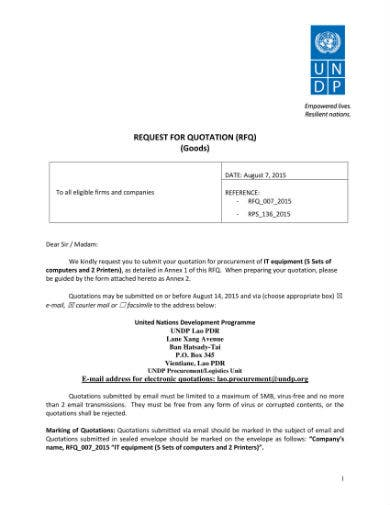 request for quotation 01