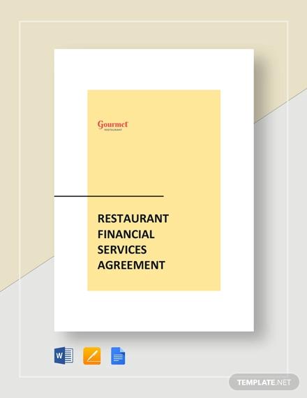 restaurant financial service