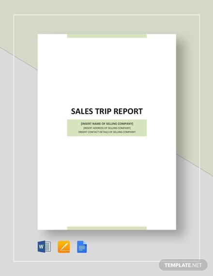 sales business trip report 2