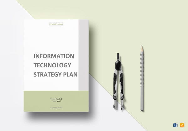 sample it strategy plan template mockup