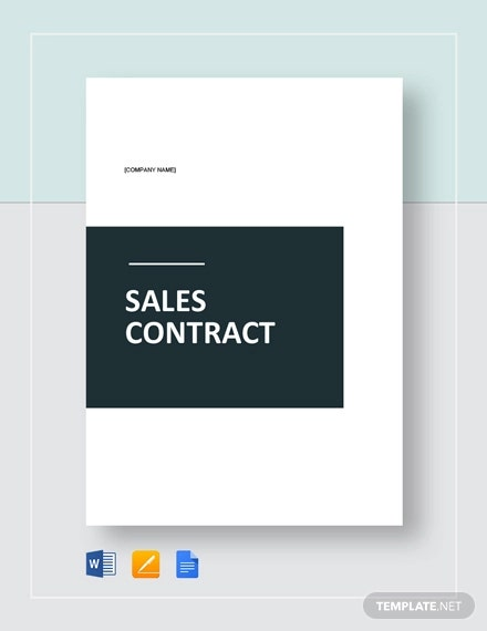 sample sales contract