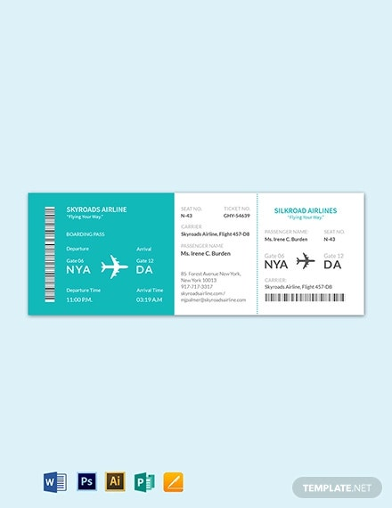 simple airline ticket
