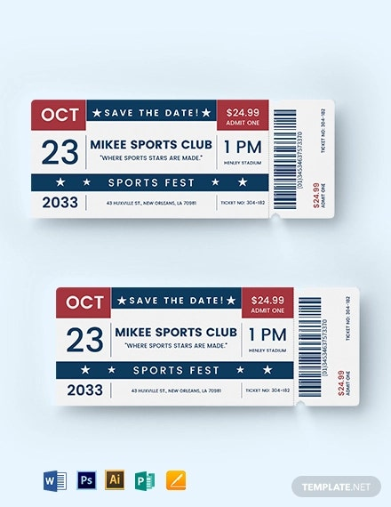 sports ticket save the date