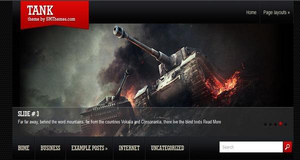 Tank – Dynamic Content Loader WordPress Theme