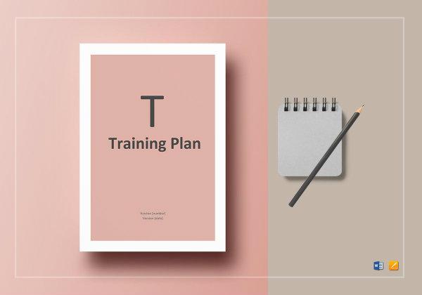 training plan template mockup