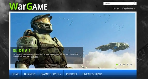 WarGame – Custom Menus WordPress Theme