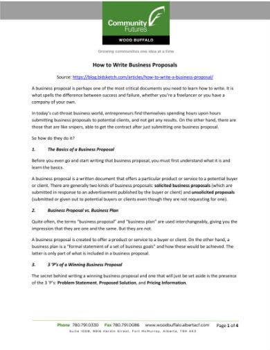 writing business proposals 1