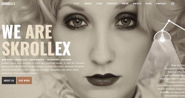 Skrollex – Dark and Light Presets WordPress Theme