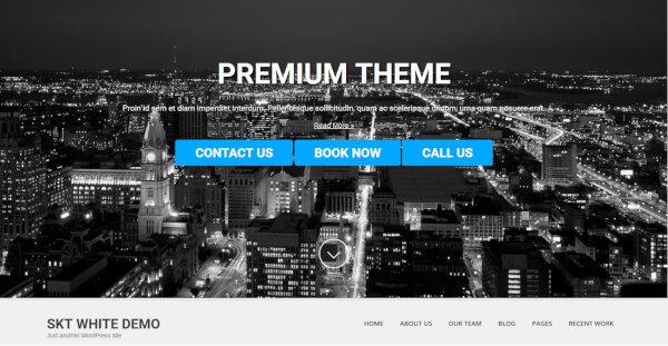 SKT White Pro – Multiple Google Font Oriented WordPress Theme