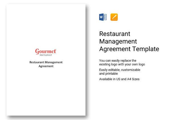 12 food legal a c restaurant management agreement 1