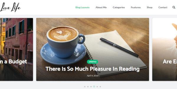 Love Life – Free Plugins WordPress Theme